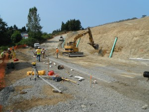Retaining wall construction monitoring (Aug 2012)